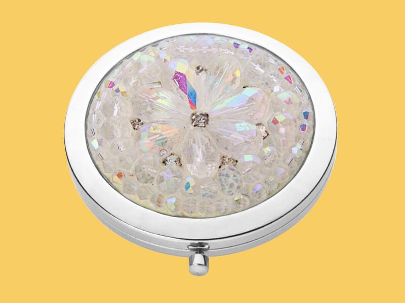 crystal compact mirror