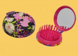 pocket mirror comb