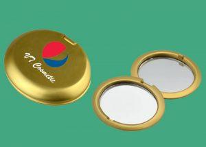gold pocket mirror