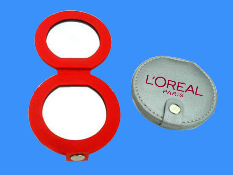 Leather Compact Mirror