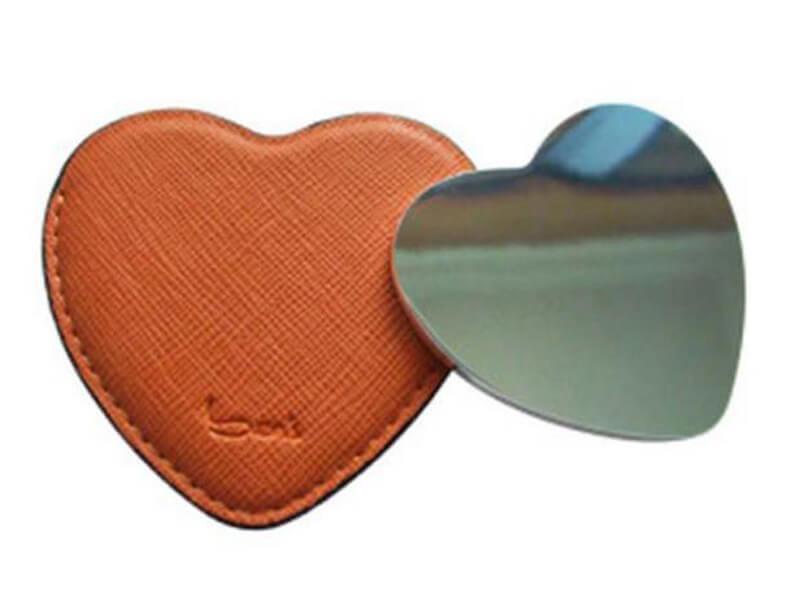 Heart Shaped Pocket Mirror